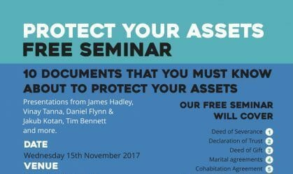 FREE SEMINAR – 10 Documents You Must Know About To Protect Your Assets