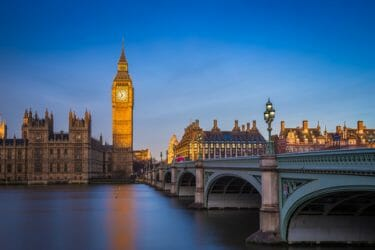 London, England - The beautiful Big Ben and Houses of Parliament